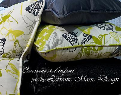 COUSSINS à l'infinis par/by Lorraine Masse Design