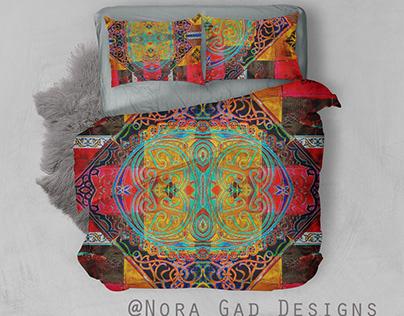 Nora Gad pattern designs/Bedding section