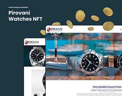 Pirovani Watches NFT - product design and website