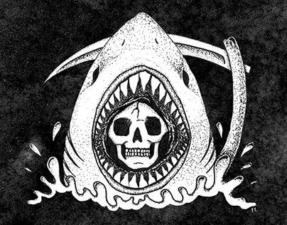 Reaper Shark, Illustration - Pen & Ink