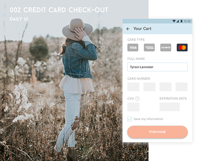 Daily UI - 002 Credit Card Check-out