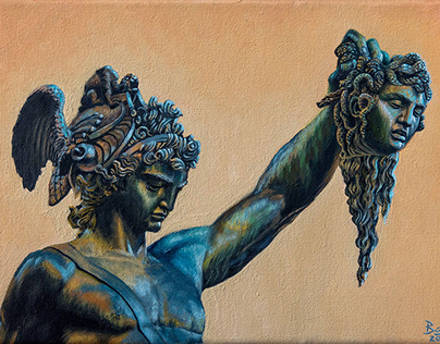 """EL PERSEO DE CELLINI"" - oil on canvas - 20x30 cm"