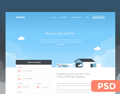 YukCus - Free Booking Site Template