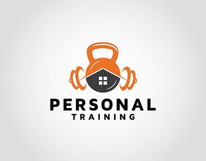 Home personal training logo design template idea