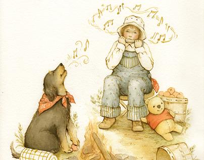 APPLE DOG (children's illustration)