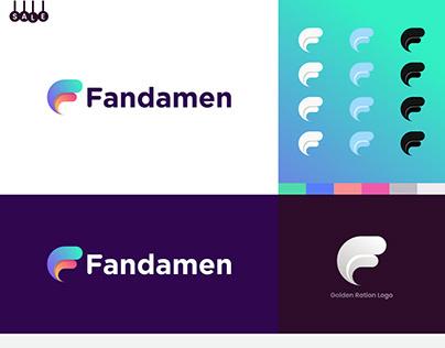 f modern letter logo - f letter mark