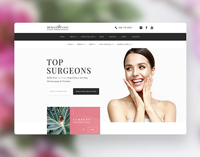 Landing Page Design for Plastic Surgery Clinic