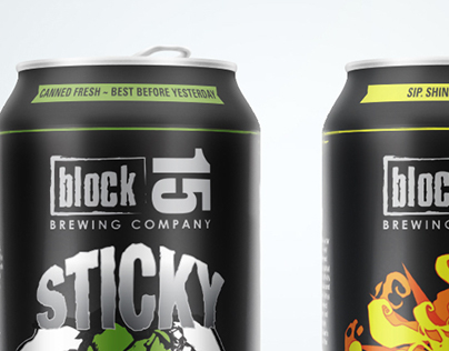 Can design for Block15 Brewery