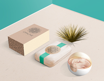 FREE PSD / display mockup cosmetic brand / OPALINE