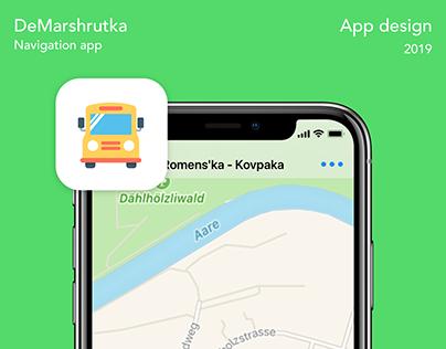 Demarshutka - navigation app