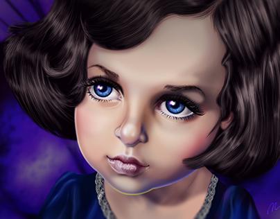 My Violet Thumbelina