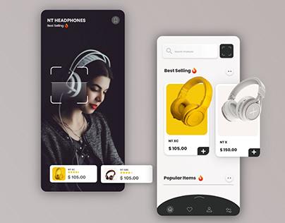 Headphone Mobile UI UX Design