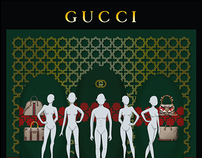 Gucci Window display project
