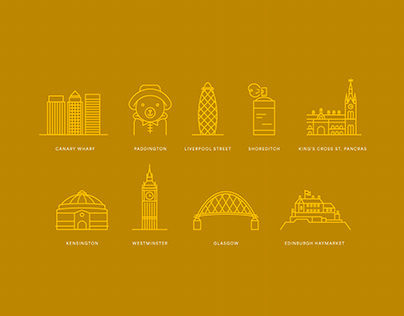 Point A Hotels Iconography Set