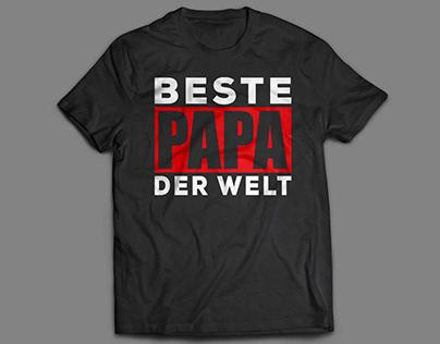 Father's Day Gift !! Beste Papa der Welt T Shirt