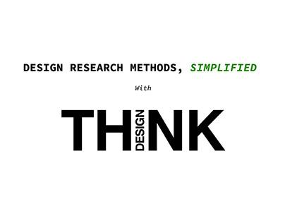 Design Research Methods: Understanding & Application