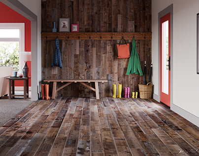Reclaimed Wood Entry