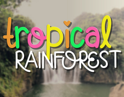 Tropical Rainforest Font