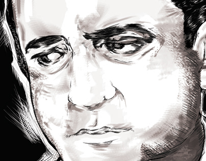 Johnny Cash Digital Illustration