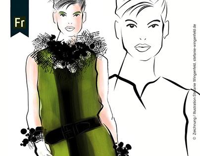 Scribble Fashion / Adobe Fresco + Adobe Draw