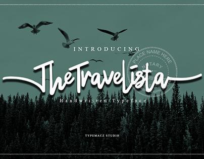 TheTravelista Font- Handwitten Typeface style.