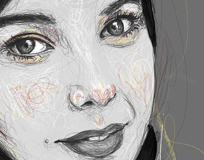 Free hand portrait-sketches