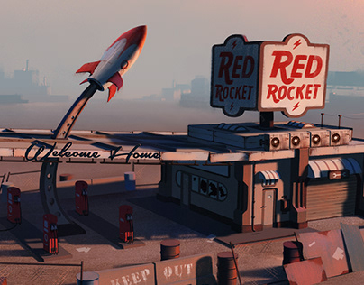 Red Rocket Gas Station