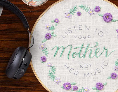 Skullcandy // Mother's Day Embroidery Campaign