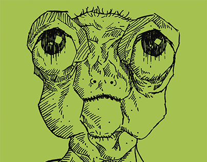 Extravagant-eyed alien