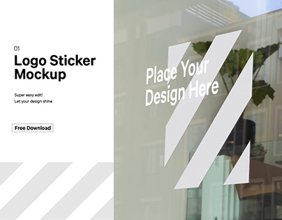 Free Window Sticker Mockup