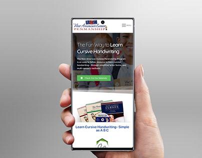 New American Cursive - Website Redesign