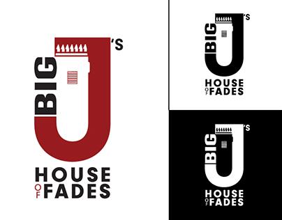 WIP - Big Js House of Fades; Barber Shop Logo
