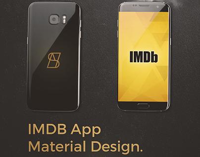 IMDb Android App Redesign (Material Design)