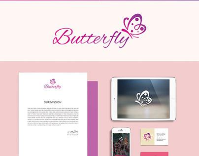 Butterfly Logo & Branding Design