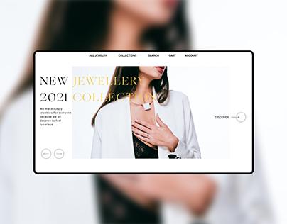 Online jewellery store concept design