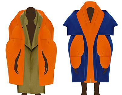 Avant-garde collection of outerwear
