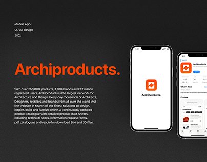 Mobile app Archiproduct