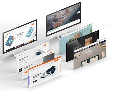 Desktop Screens Mockup