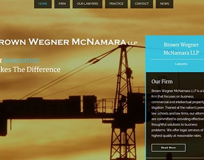 Web Design for a Business Law Firm in Irvine, CA