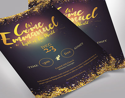 Emmanuel Christmas Flyer Word Publisher Template