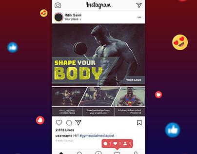 Gym Social Media Post + Gym Flyer