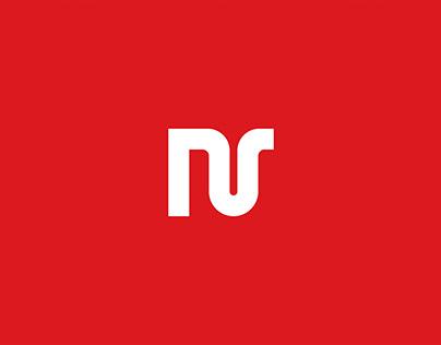 neraik Logo Design - nr letter mark