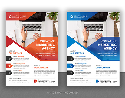 Corporate Business Flyer and Brochure Cover Page Design