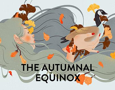 the autumnal equinox二十四节气秋分
