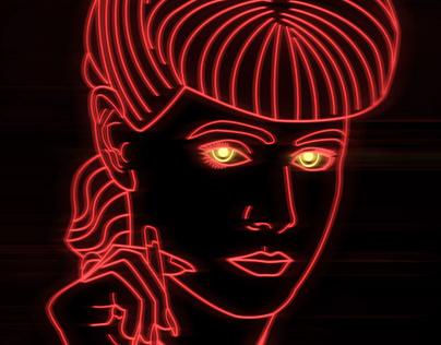 Neon Blade Runner
