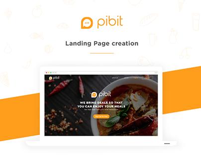 Pibit - Landing Page