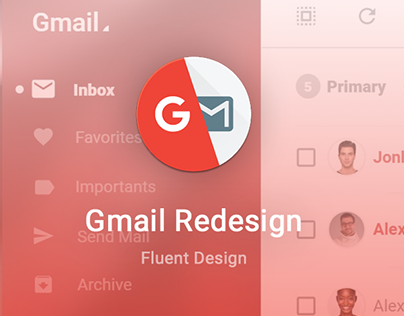 Gmail Redesign- Fluent Design