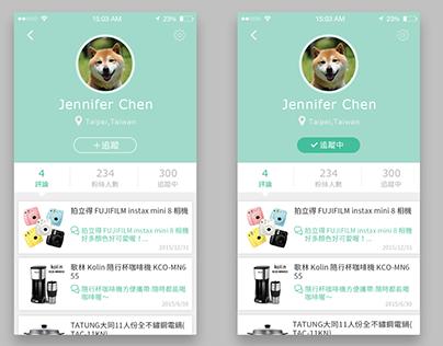 Daily UI Challenge #004 User Profile