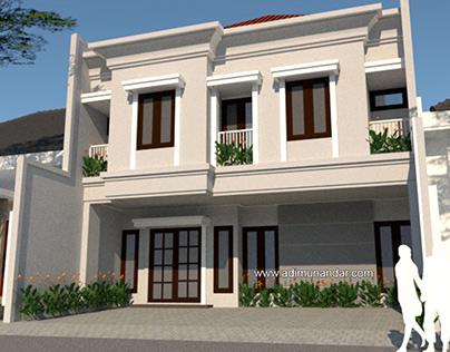 Desain ArsitekturKlasik Kos Wanita di Surabaya