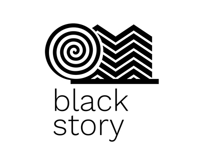 Black Store - optical patterned logo